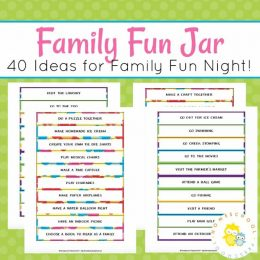 Free Family Fun Jar Printables