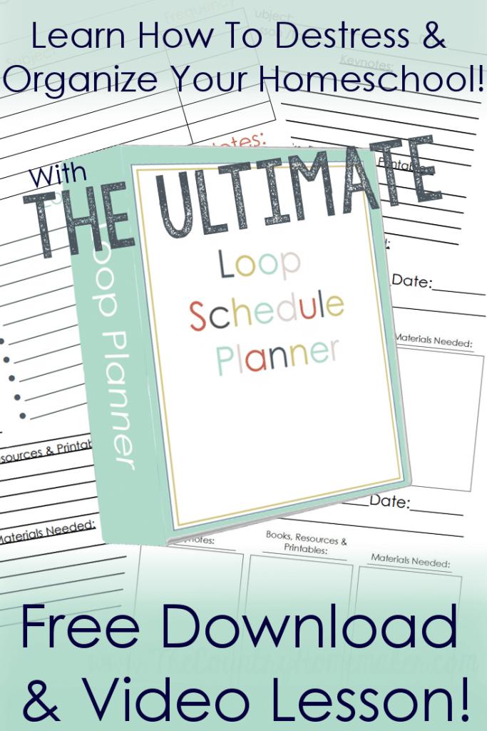 Free Homeschool Loop Schedule Planner | Free Homeschool ...