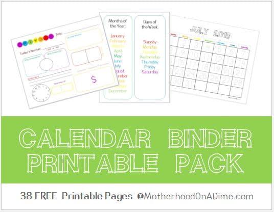 Calendar Notebook Homeschool : Free  calendar binder homeschool deals