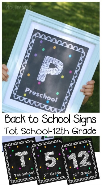 Free Back to School Signs for Pictures
