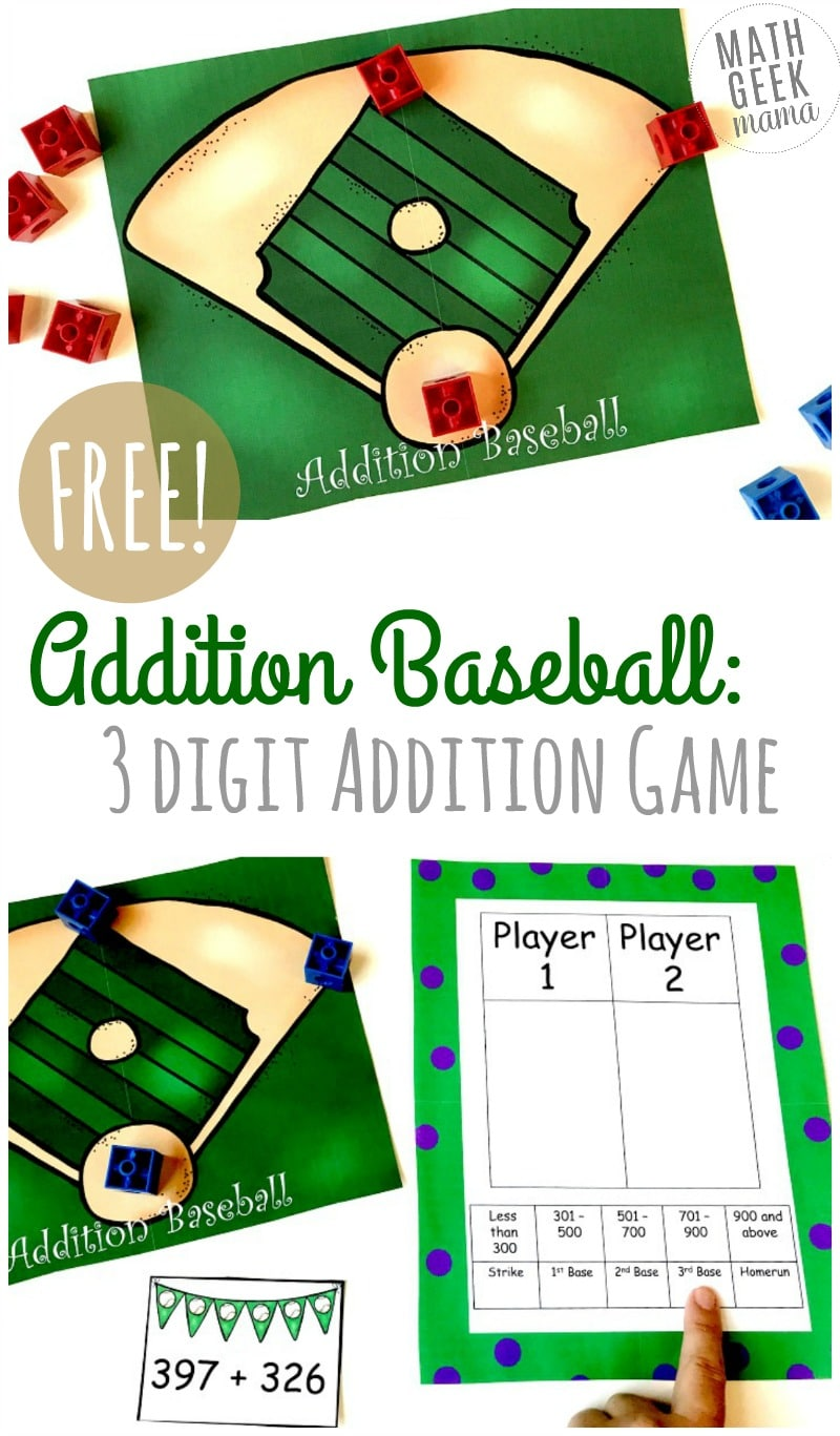 Free Addition Baseball Game