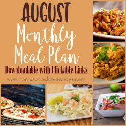 Free August Meal Plan