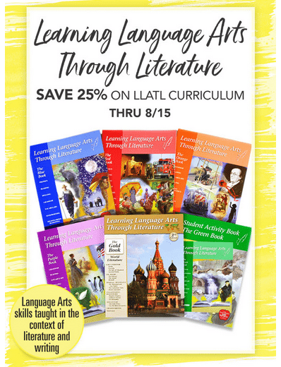 25% Off Learning Language Arts Through Literature Curriculum