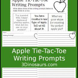 Free Apple Tic-Tac-Toe Writing Prompts