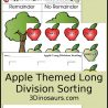 Free Apple Long Division Sorting Activity