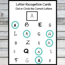 Free Letter Recognition Cards