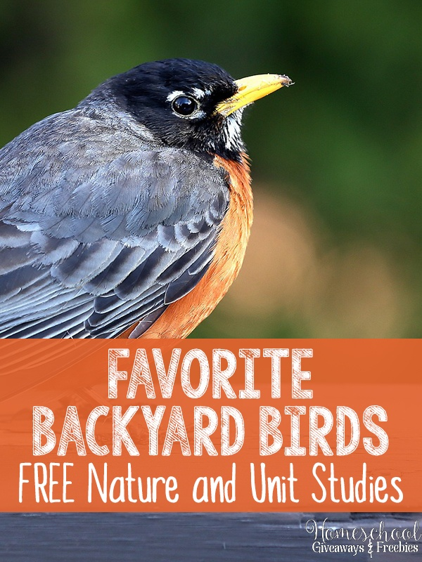Free Backyard Birds Nature & Unit Study Resources