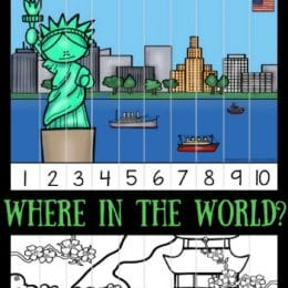 Free Where in the World Skip Counting Puzzles