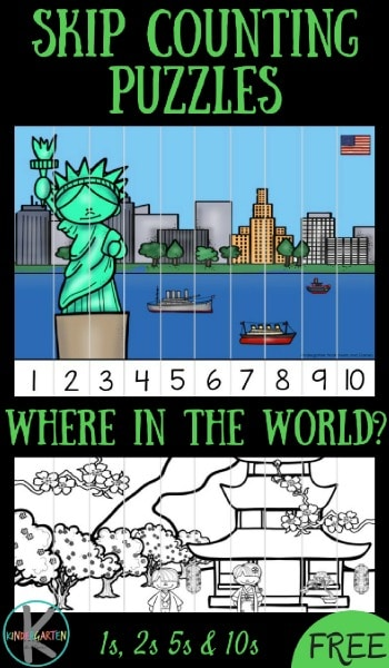 free where in the world skip counting puzzles free homeschool deals. Black Bedroom Furniture Sets. Home Design Ideas