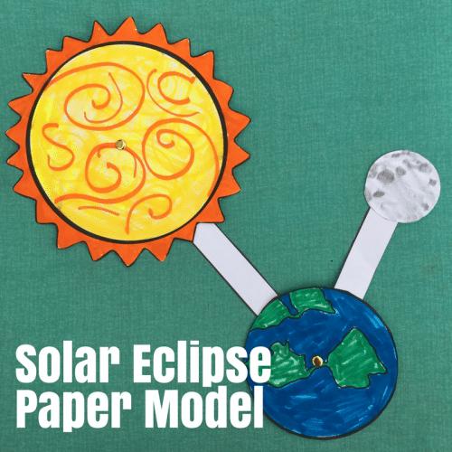 Free Solar Eclipse Paper Model Free Homeschool Deals