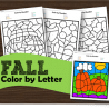Free Fall Color By Letter Printables