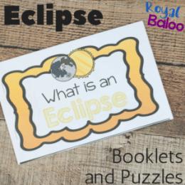 Free Solar Eclipse Mini-Book & Puzzles
