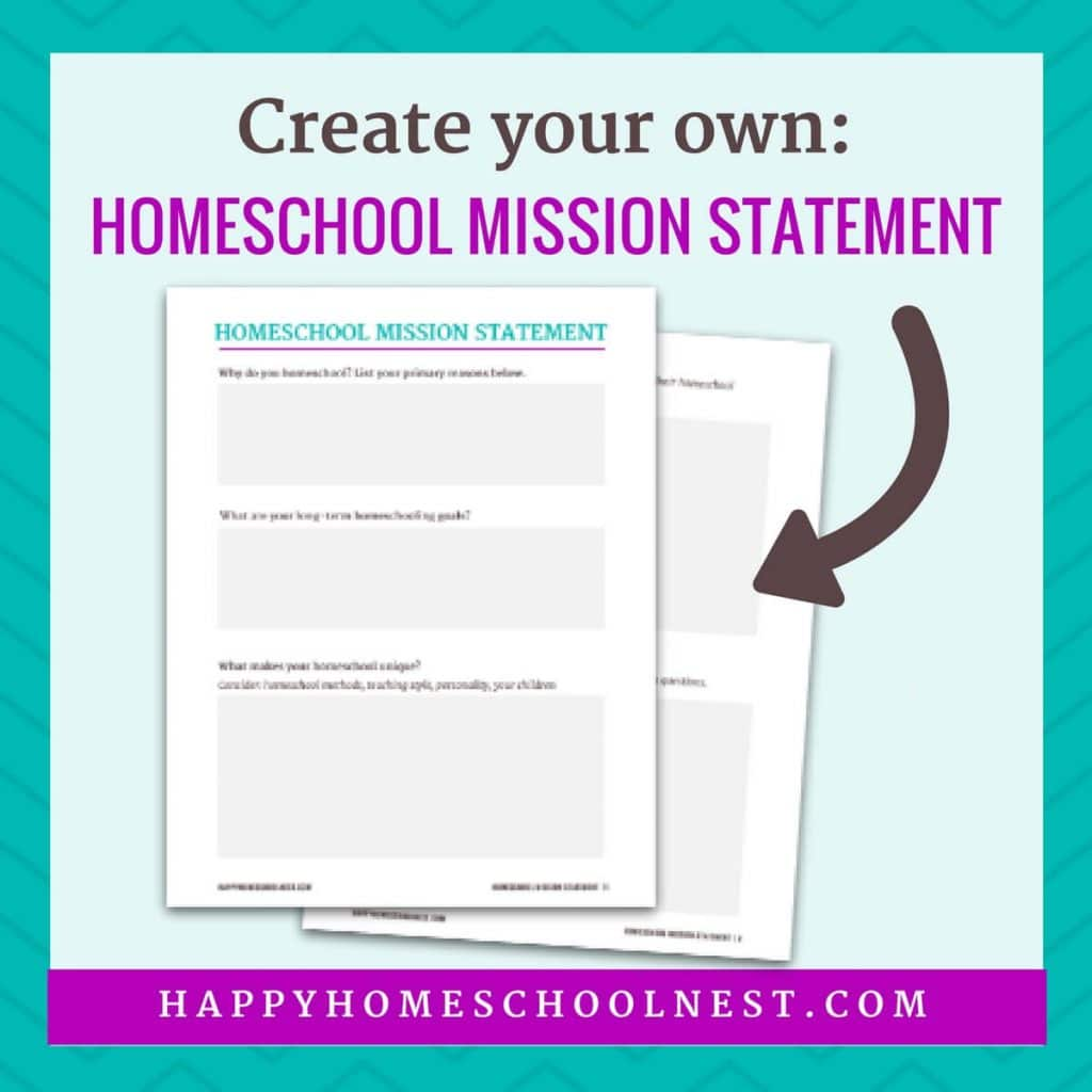 Free Homeschool Mission Statement Printables