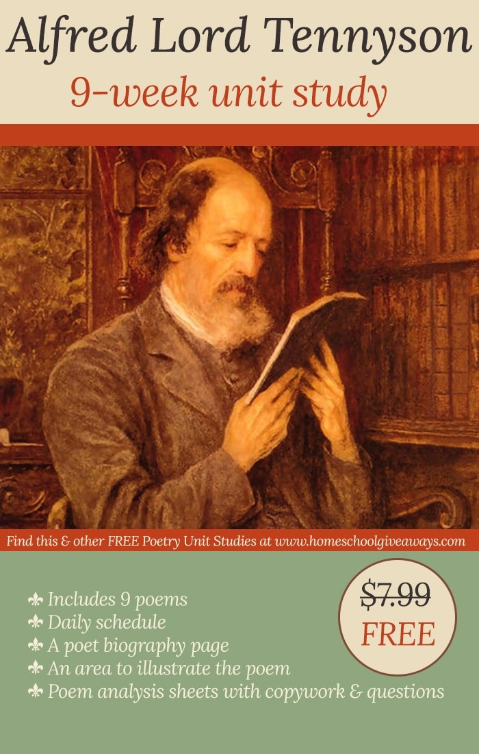 Free Alfred Lord Tennyson 9-Week Unit Study