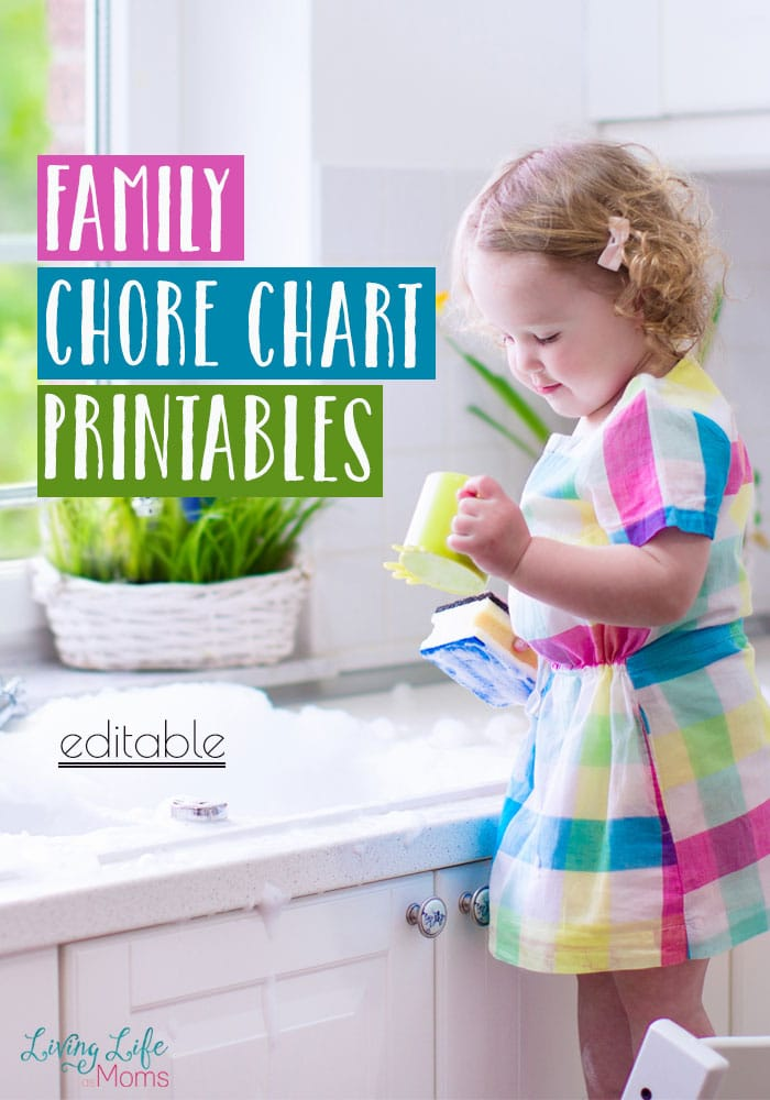 Free Family Chore Chart Printables (Editable)