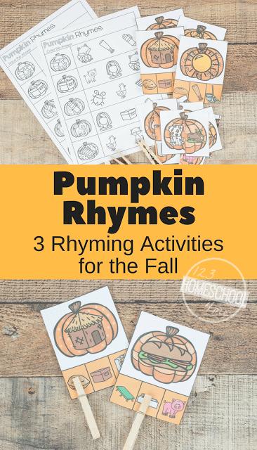 pumpkin rhymes preschool free pumpkin rhyming printables free homeschool deals 206