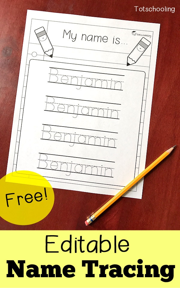 Free Editable Name Tracing Worksheet