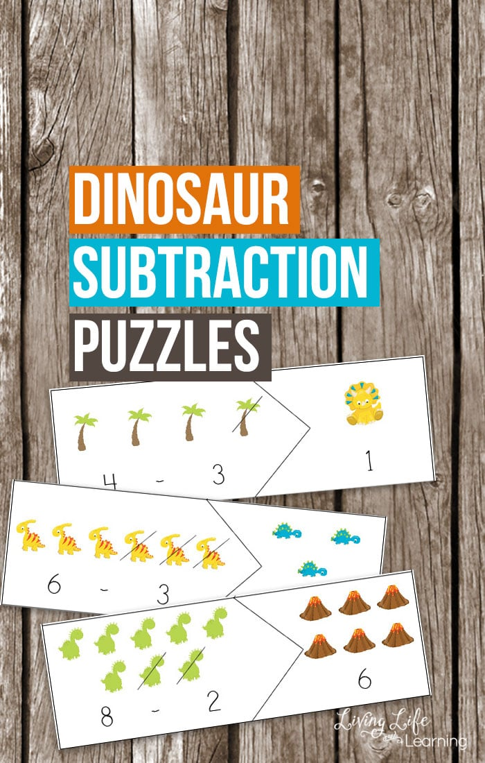 Free Dinosaur Subtraction Puzzles