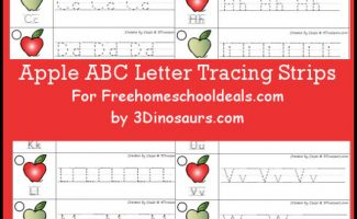 FREE APPLE ABC TRACING STRIPS (Instant Download)