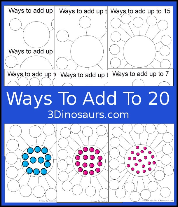 Free Hands-On Addition Worksheets