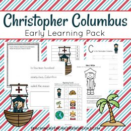 Free Christopher Columbus Early Learning Pack