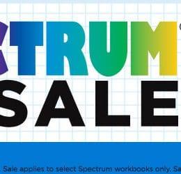 35% Off Spectrum Workbooks