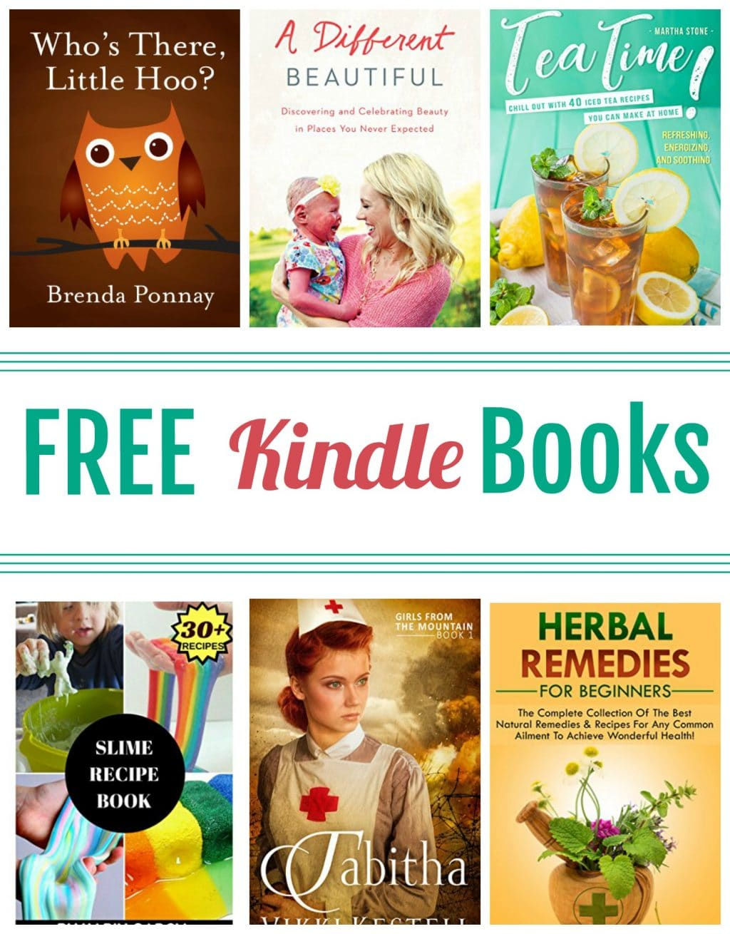 15 Kindle Freebies: A Different Beautiful, Slime Recipe Book, & More!