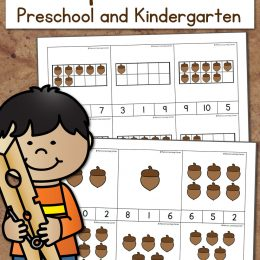 FREE ACORN COUNTING CLIP CARDS (Instant Download)