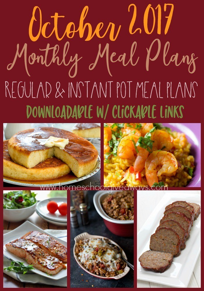 Free October Meal Plan