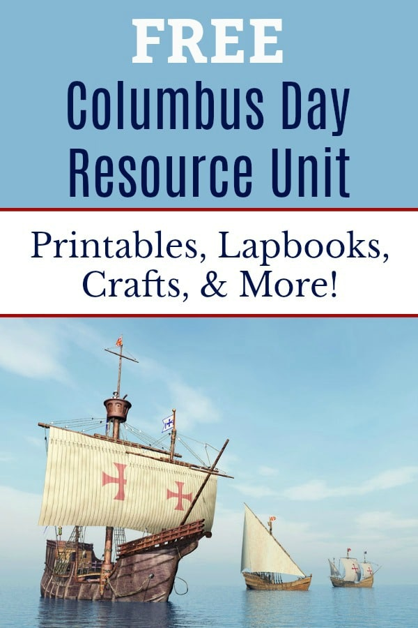 Free Columbus Day Unit Study Resources