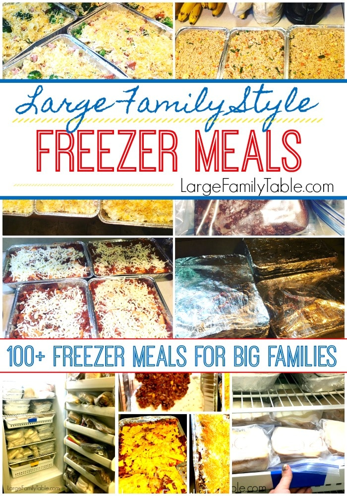 100+ Freezer Meals for Big Families