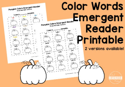 Free Color Names Pumpkin Printable