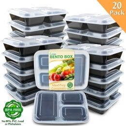 20 Pack Meal Prep Containers Only $17.99! (64% Off!)