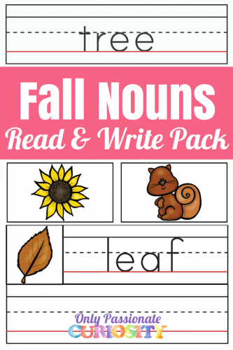Free Fall Nouns Read & Write Pack
