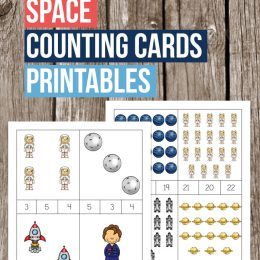 Free Space Counting Clip Cards
