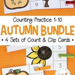 Free Autumn Count & Clip Cards