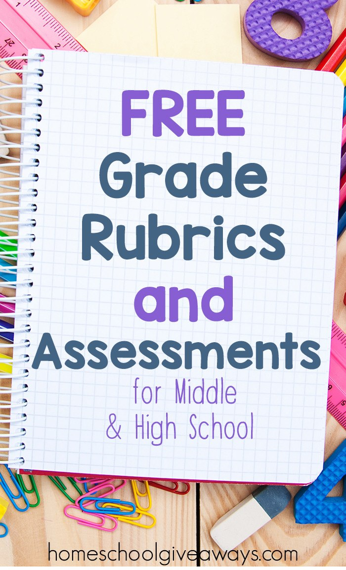Free Grade Rubrics and Assessments for Middle and High School
