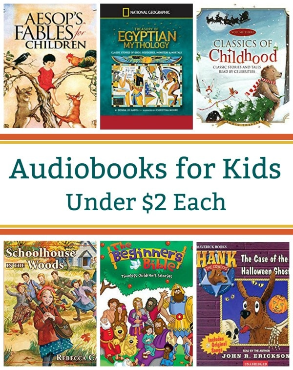 12 Audiobooks for Kids Under $2 Each: Aesop's Fables, Egyptian Mythology, Christmas Classics, & More!
