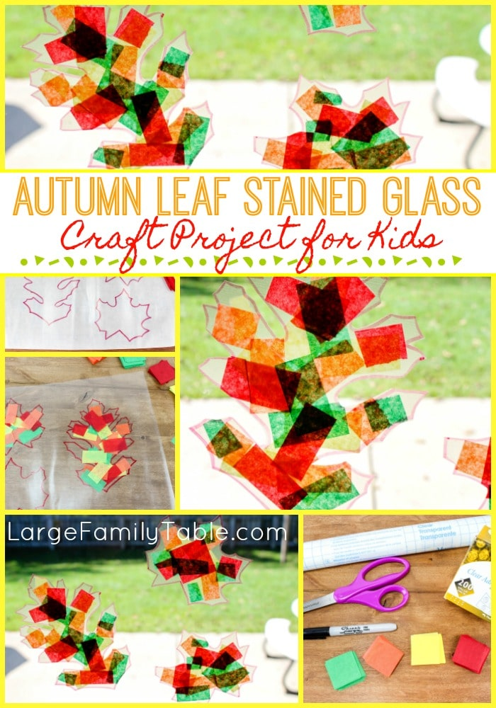 Autumn Leaf Stained Glass Craft Project For Kids