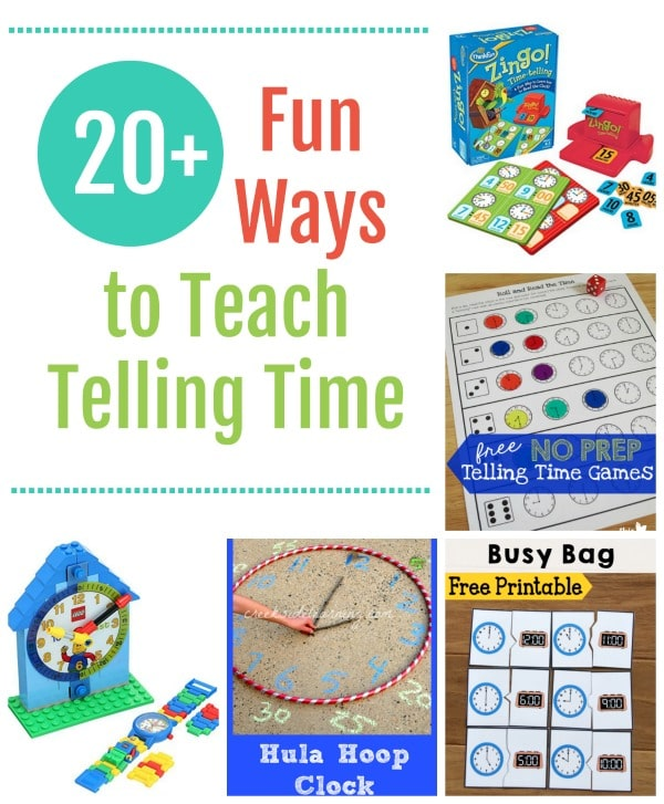 20 Fun Ways To Teach Telling Time Free Homeschool Deals