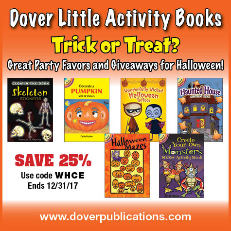 Dover Little Activity Books Only $1.50-$1.99 + 25% Off! (Great Party Favors or Halloween Treats!)