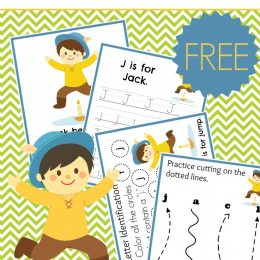 FREE JACK BE NIMBLE PRESCHOOL LEARNING PACK (Instant Download)