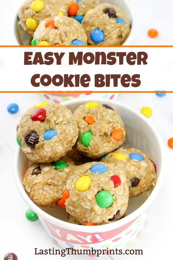 Easy Monster Cookie Bites