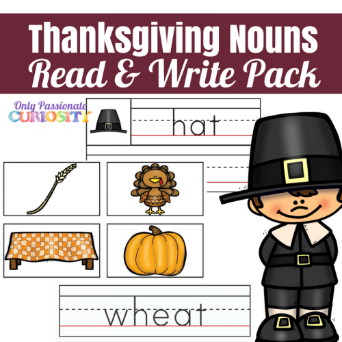 Free Thanksgiving Nouns Read & Write Pack