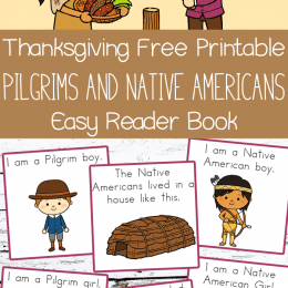 Free Thanksgiving Easy Reader Book