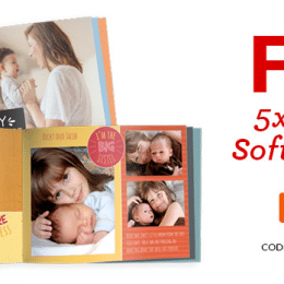 Free 5×7 Custom Softcover Photo Book – Just Pay $3.99 Shipping!
