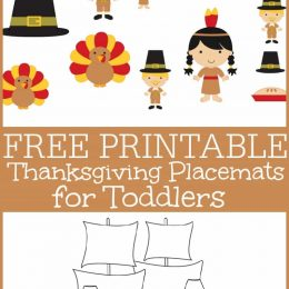 Free Thanksgiving Activity Mats for Toddlers
