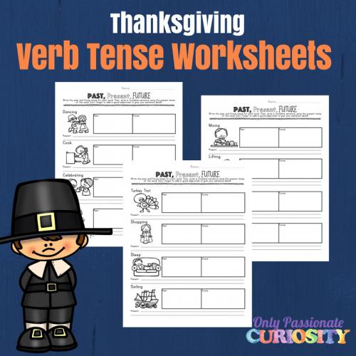 Free Thanksgiving Verb Tense Worksheets