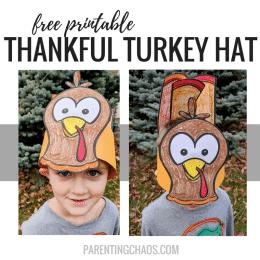 Free Printable Thankful Turkey Hats
