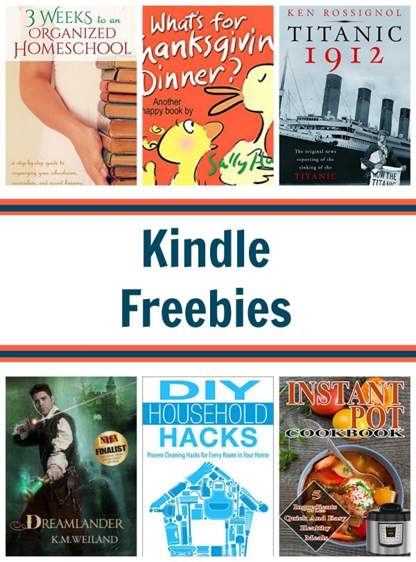 14 Kindle Freebies: Instant Pot Cookbook, Organized Homeschool, & More!